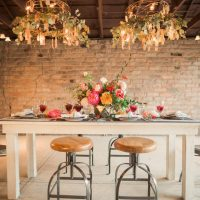Hanging wedding decor - Gideon Photography