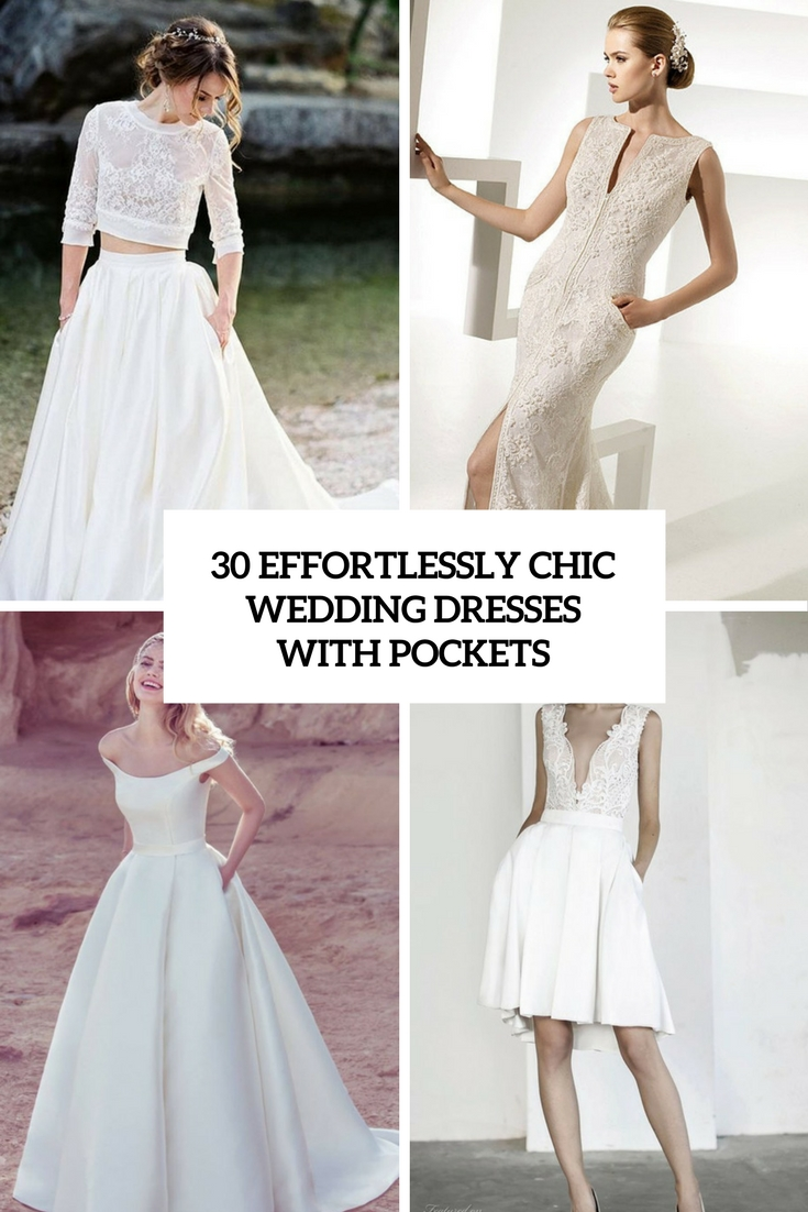 effortlessly chic wedding dresses with pockets cover