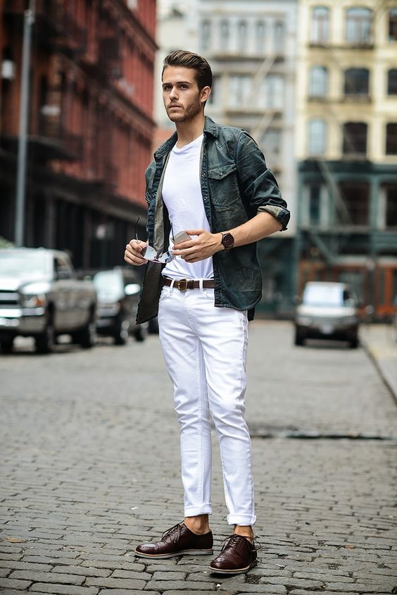 how to wear white jeans for men (15)