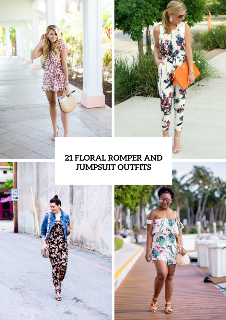 Cool Floral Print Romper And Jumpsuit Outfits
