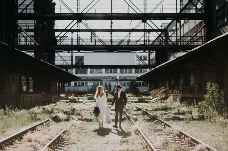 This couple from Sweden came to Prague to get married at an abandoned train station