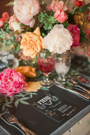 Wedding menu ideas - Gideon Photography