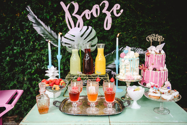 Boozy bohemian bridal shower | Jessilynn Wong Photography