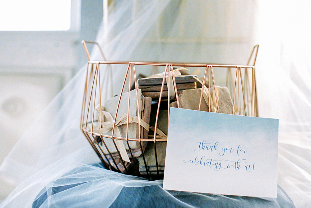 wedding favors - photo by Alexis June Weddings http://ruffledblog.com/for-the-love-of-copper-wedding-inspiration