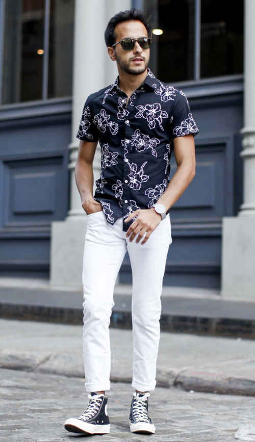 how to wear white jeans for men (6)