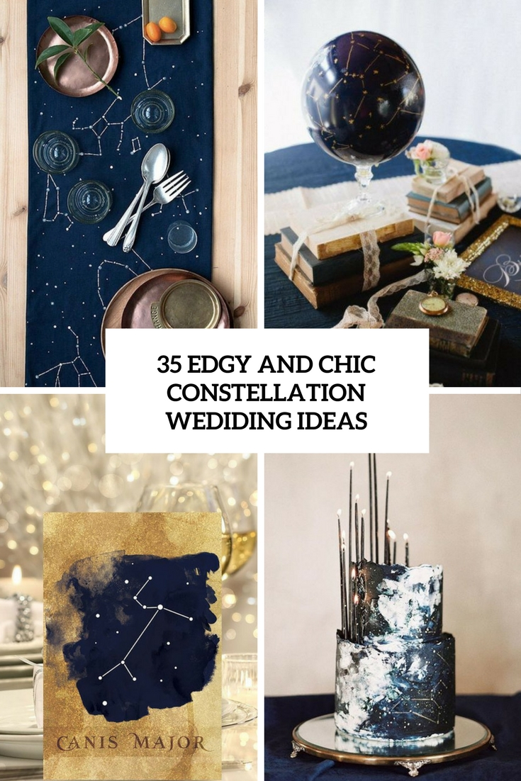 edgy and chic constellation wedding ideas cover