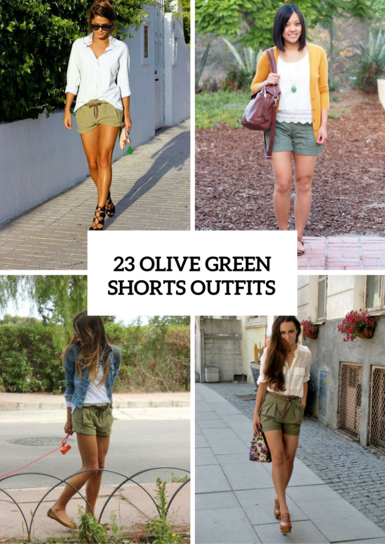 Olive Green Shorts Outfits For Ladies