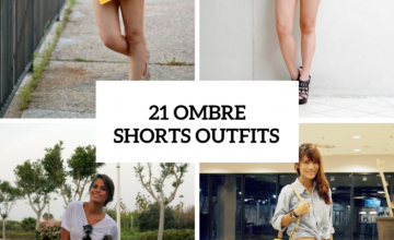 Ombre Shorts Outfits For Ladies