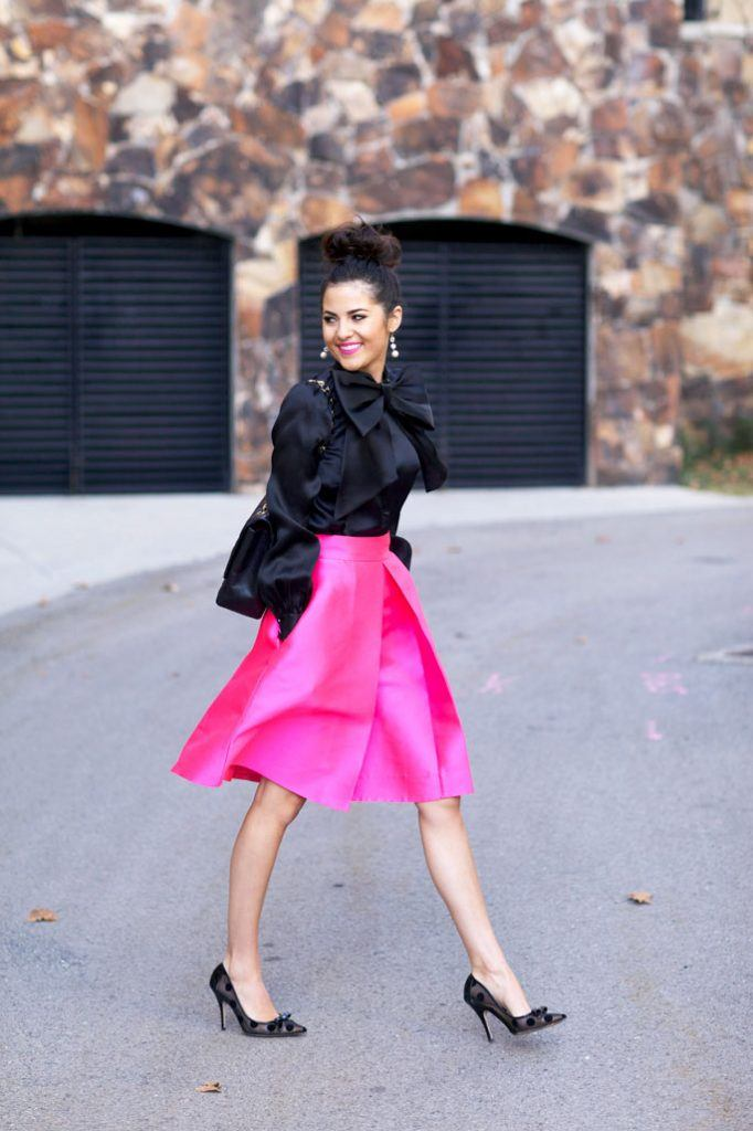how to wear hot pink skirts (11)
