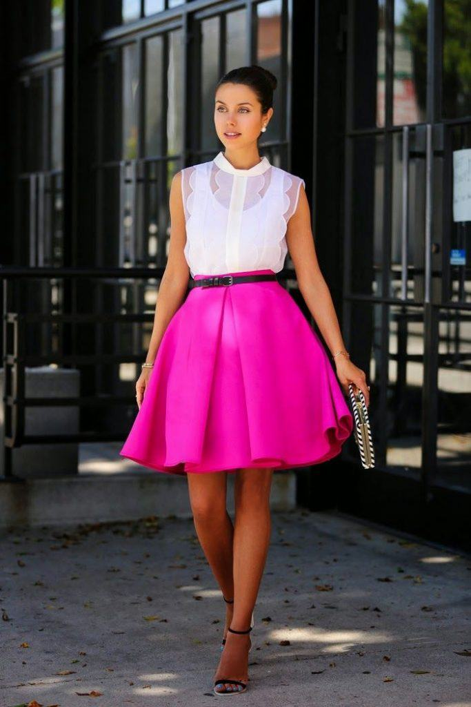 how to wear hot pink skirts (5)