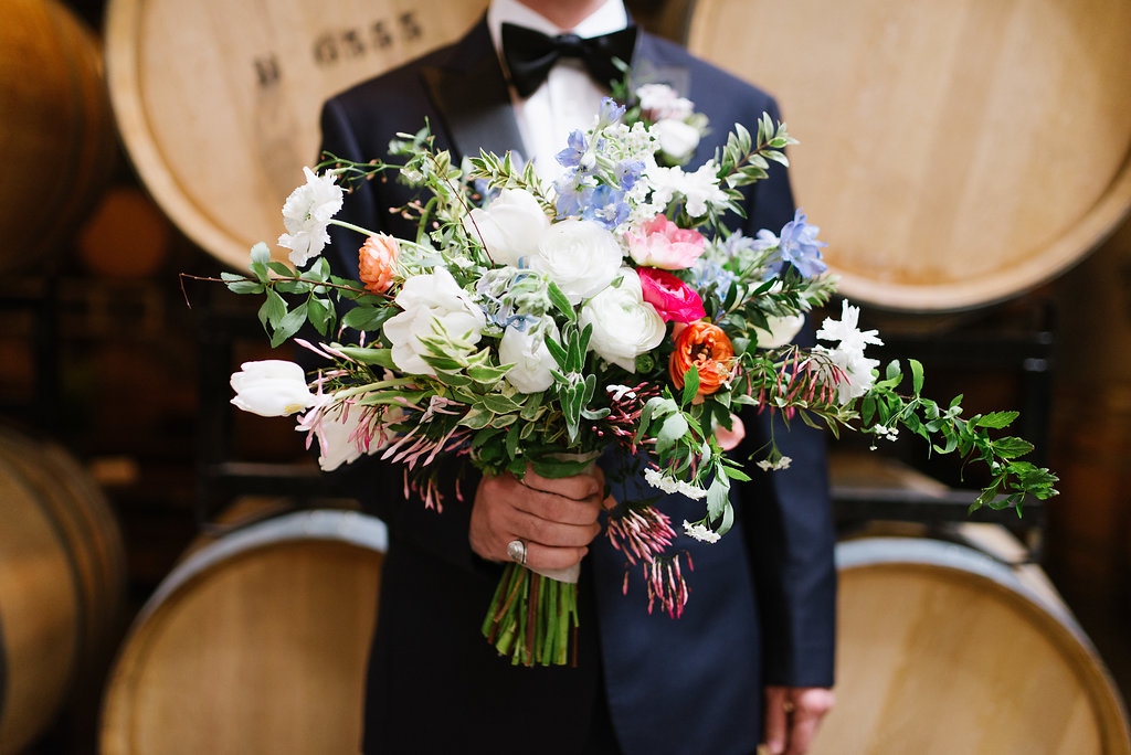 lush bouquets - photo by Chelsea Dier Photography http://ruffledblog.com/modern-san-francisco-winery-elopement