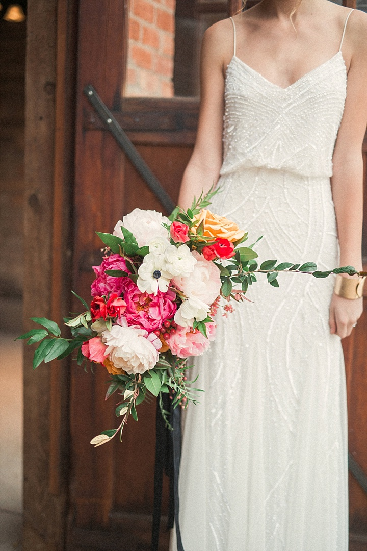 Look at this amazing textural and sparkling wedding gown, it's so awesome