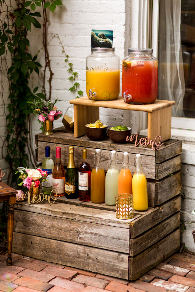 Drink station | Kristopher Lindsay Photography + Milk Glass Productions