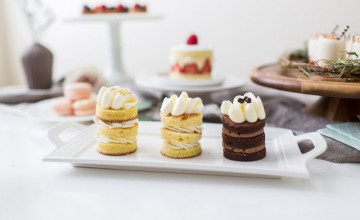 a wedding cake tasting session