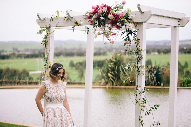 Wedding arbor | Katie Hillary Photography
