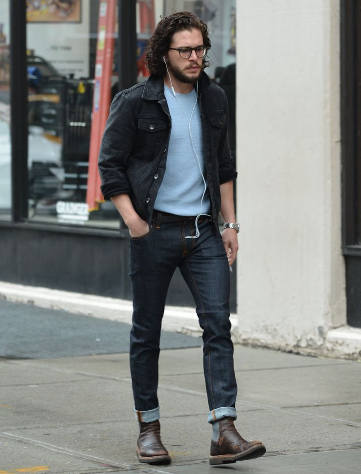 how to wear blue jeans for men (9)