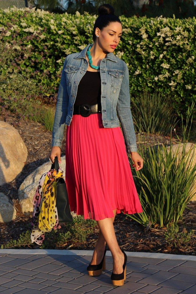 how to wear hot pink skirts (14)