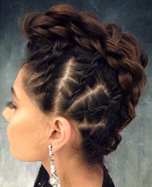 Braided Mohawk for Prom Updo Idea