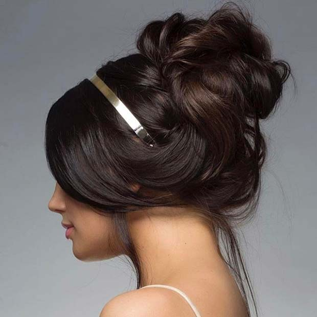 Headband Updo for Prom