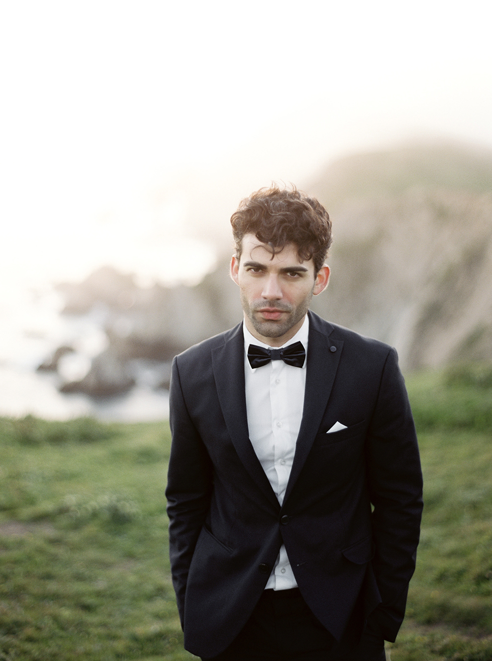 groom style - photo by Tyler Rye Photography http://ruffledblog.com/romantic-coastal-california-wedding-inspiration