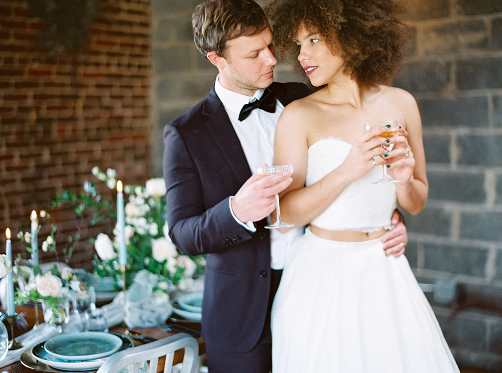 Downtown Birmingham Spring Wedding Inspiration - photo by Photos by Heart http://ruffledblog.com/downtown-birmingham-spring-wedding-inspiration