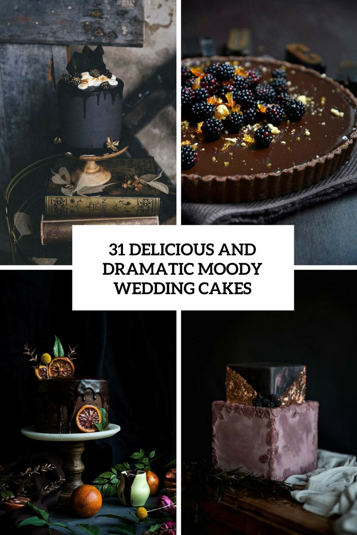 delicious and dramatic moody weding cakes cover
