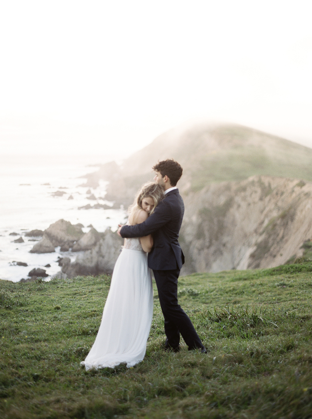 wedding portraits - photo by Tyler Rye Photography http://ruffledblog.com/romantic-coastal-california-wedding-inspiration