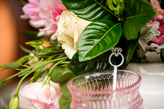 Laser cut diamond ring drink sitrs   Kristopher Lindsay Photography + Milk Glass Productions