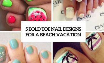 bold toe nail designs for a beahc vacation cover