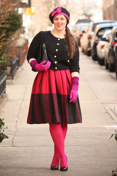 how to wear hot pink skirts (3)