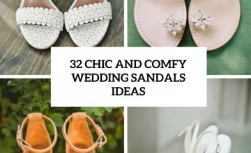 chic and comfy wedding sandals ideas cover