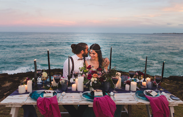 Indie beach wedding | Just For Love Photography