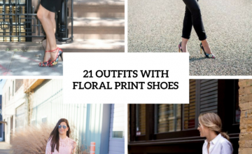 Girlish Outfits With Floral Print Shoes