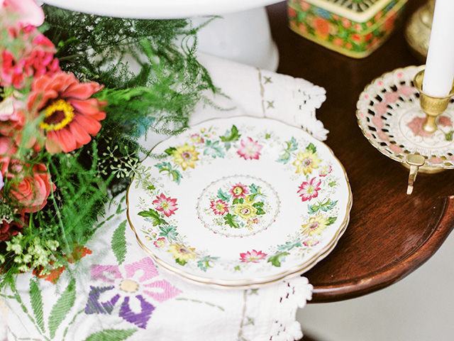 Floral pattern plate | Casey Rose Photography