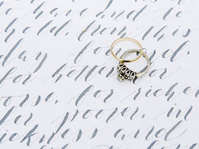 Rings on vows | Casey Rose Photography