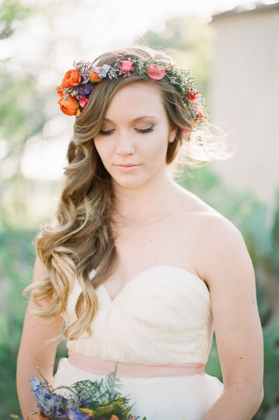 bold orange, pink and blue crown for a colorful accent