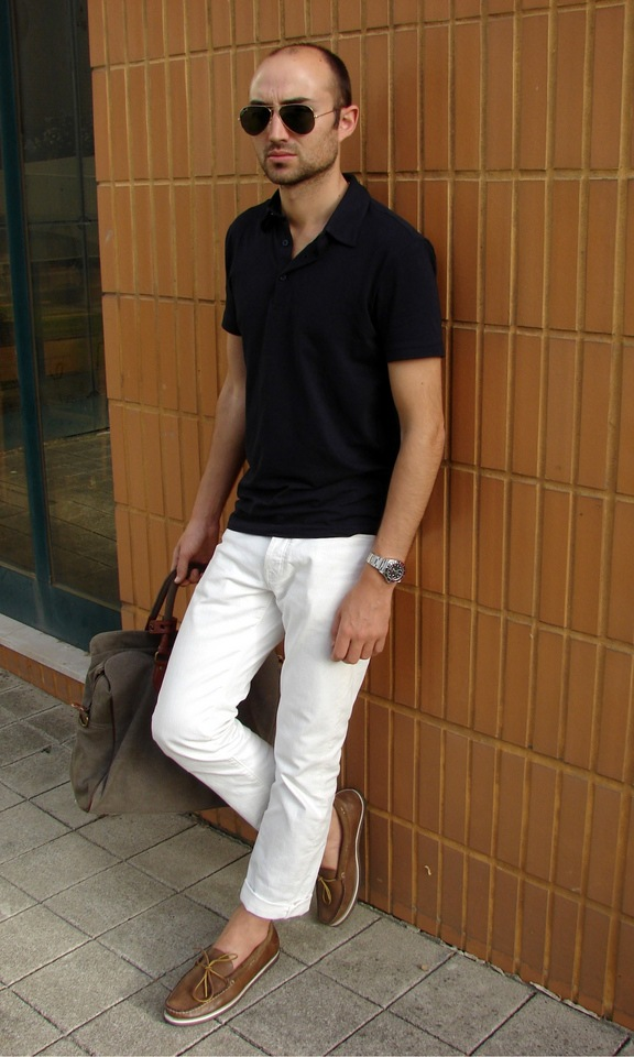 how to wear white jeans for men (1)
