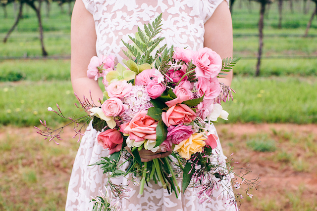 Colorful bridal bouquet | Katie Hillary Photography