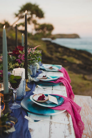 Colorful indie wedding reception | Just For Love Photography