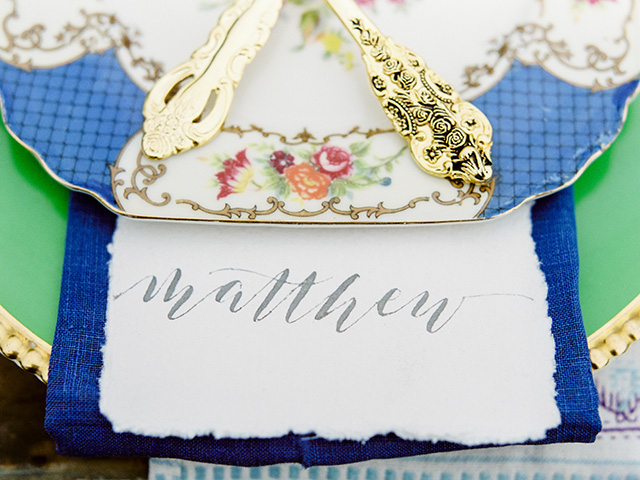 Rough edge place cards | Casey Rose Photography