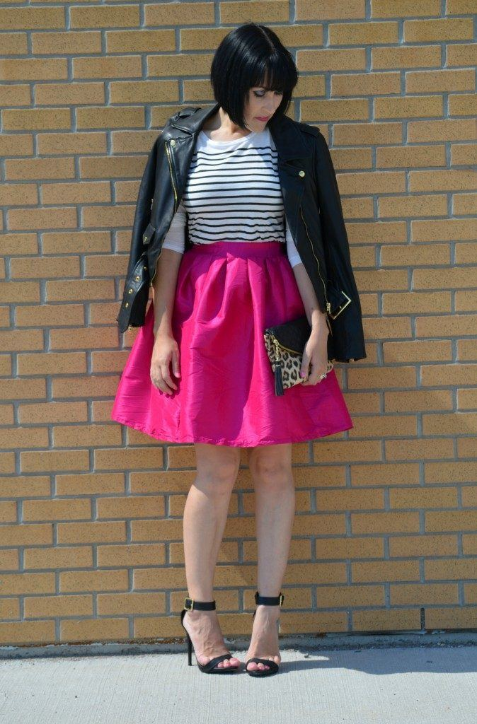 how to wear hot pink skirts (19)