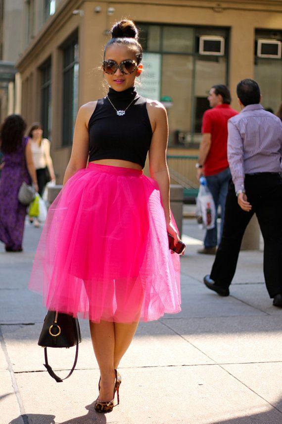 how to wear hot pink skirts (4)