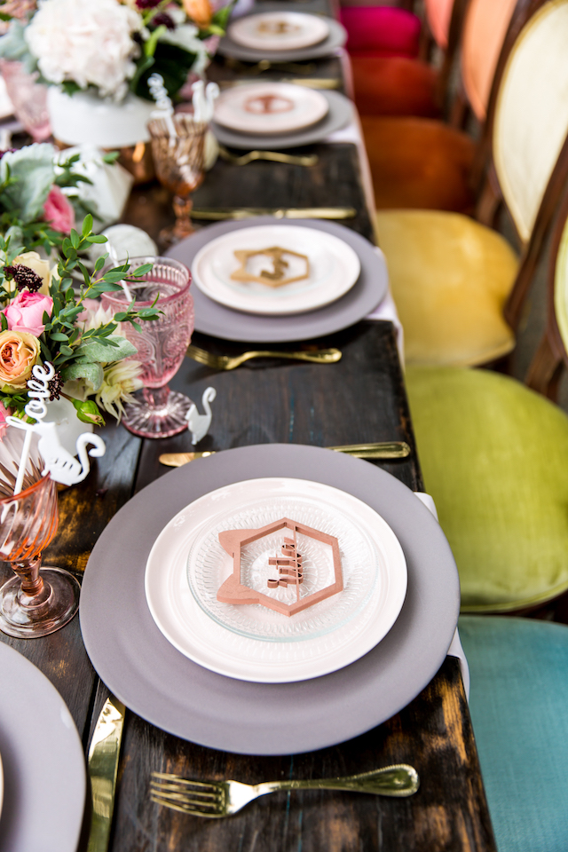 Geometric laser cut place cards   Kristopher Lindsay Photography + Milk Glass Productions