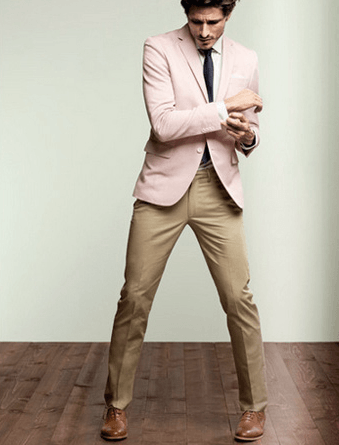 How to Wear Khaki Pants with Unusual Colored Blazer