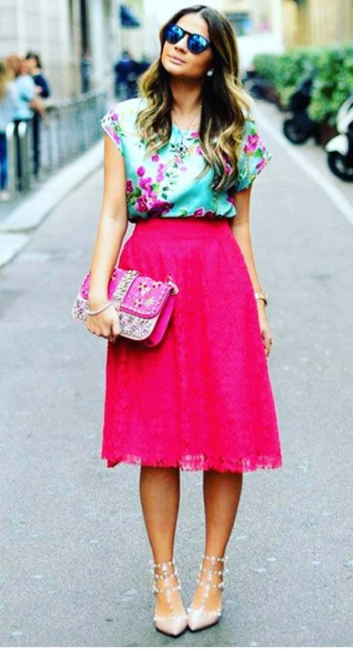 how to wear hot pink skirts (21)