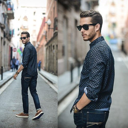 how to wear blue jeans for men