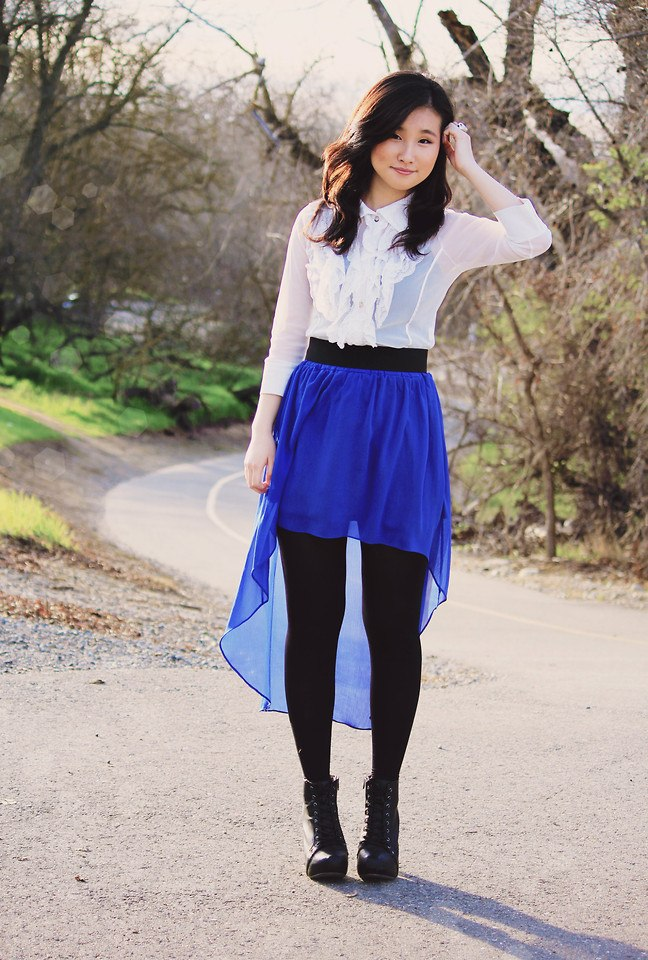 how to wear cobalt blue skirts (24)