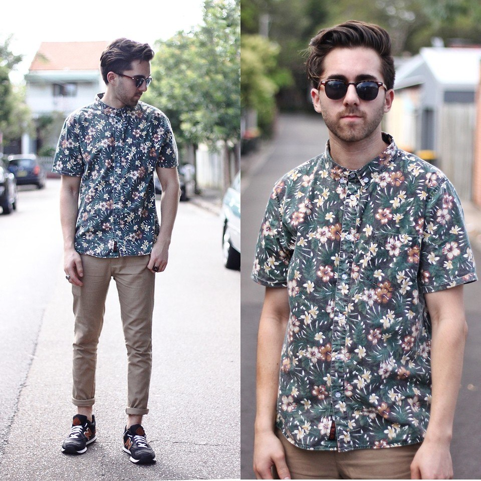 how to wear a floral shirt outfit for men (24)