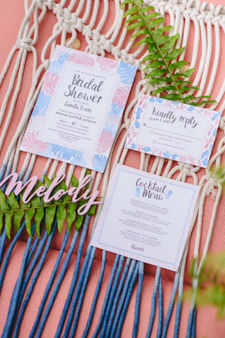 Bohemian bridal shower invitations | Jessilynn Wong Photography