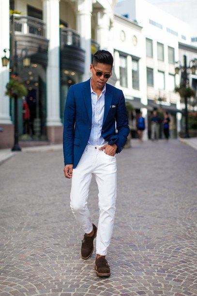 how to wear white jeans for men (2)